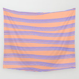 Blue lines Wall Tapestry