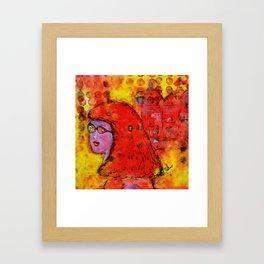 Red Hot Summer Girl Framed Art Print