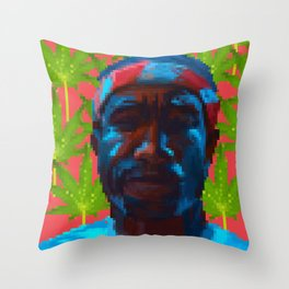 Frank  fanart with pixels Throw Pillow