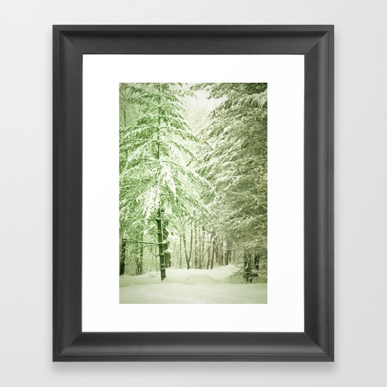 Winter Pine Trees Framed Art Print