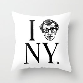 I (Woody) NY Throw Pillow