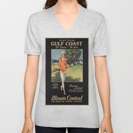 Vintage poster - Gulf Coast Unisex V-Neck