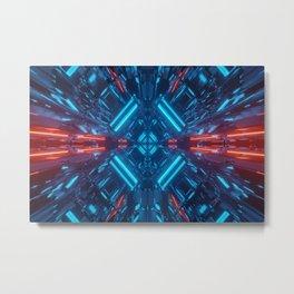 Futuristic Lights Fractal  Metal Print