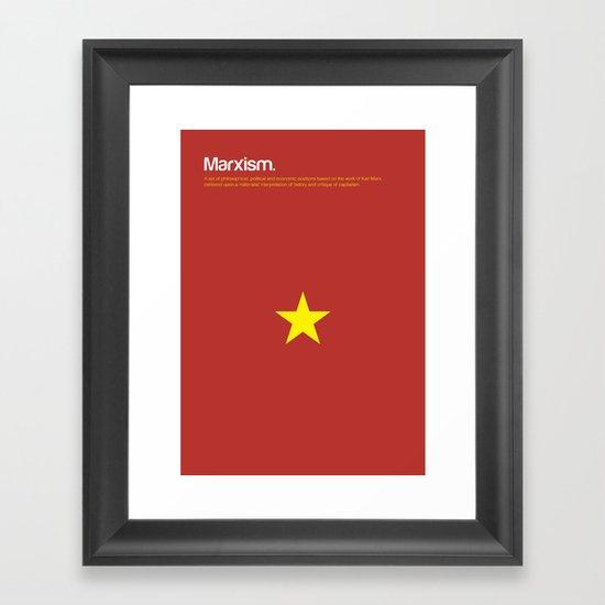 Marxism Framed Art Print