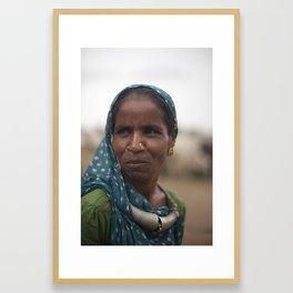 Bhuj Woman Framed Art Print