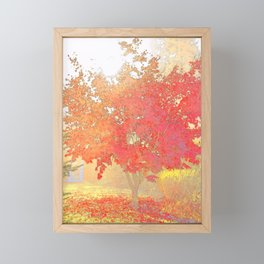 Fiery Framed Mini Art Print