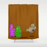 bruno mars Shower Curtains featuring Bruno by Mirko Oni Figoli