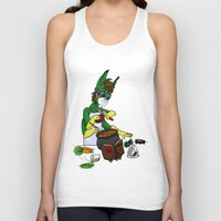 cooking Tank Tops featuring Cooking Quinn by Satyrbug