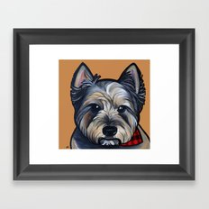 Rigoletto the cairn terrier Framed Art Print