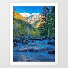 River Bed Sunrise // Long Exposure Landscape Photograph in the Colorado Rocky Mountains Art Print