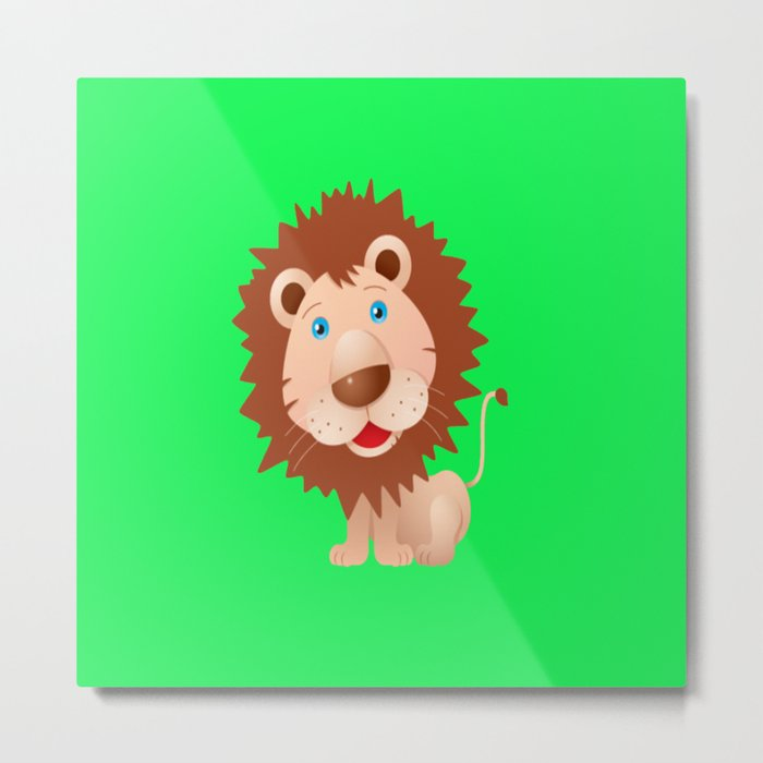 Cute Lion Metal Print