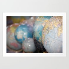 Globes Art Print