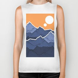 The mountains under the two suns Biker Tank