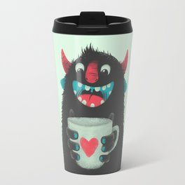 Demon with a cup of coffee Travel Mug