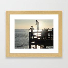 Diving Crescent Beach Framed Art Print