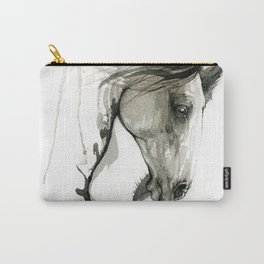 Black ink horse Carry-All Pouch