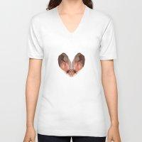 bat V-neck T-shirts featuring Bat by Alysha Dawn