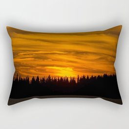 Cloudy Sunset With Forest Line - Scenic Landscape - #society6 #decor #buyart Rectangular Pillow