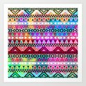 Neon Aztec | Purple Pink Neon Bright Andes Abstract Pattern by girlytrend