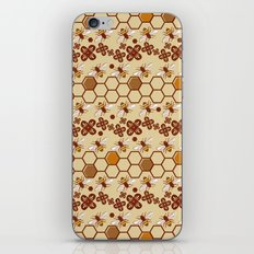 Honeycomb and Bees iPhone & iPod Skin