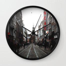 Amsterdam Vibes Wall Clock