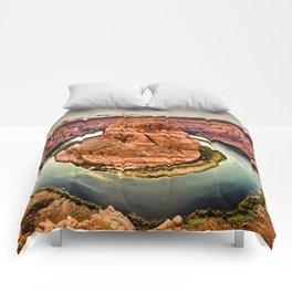 Horseshoe Bend Grand Canyon Arizona Comforters