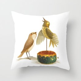 The Nightingale Throw Pillow