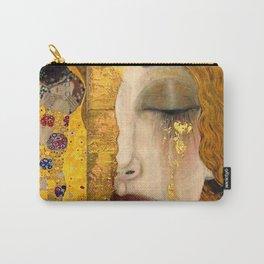 Gustav Klimt portrait The Kiss & The Golden Tears (Freya's Tears) No. 2 Carry-All Pouch