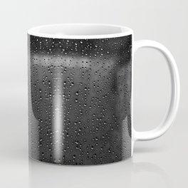 Black and White Rain Drops; Abstract Coffee Mug