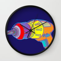 tool Wall Clocks featuring Power Tool by Paco Dozier