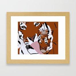 The Affectionate Tigers Framed Art Print