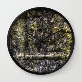 Ancient Grave Skull Wall Clock