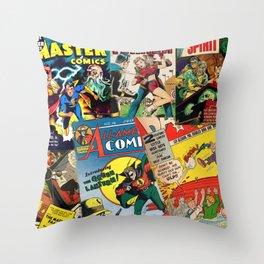 Comics Collage Throw Pillow