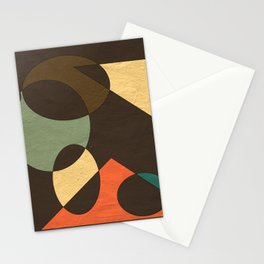 Naturals in Dark Brown and Turquoise Geometrical Design Stationery Cards
