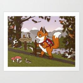 Foxy Trail Art Print