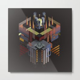 Isometric Samurai from the Fourth Dimension Metal Print