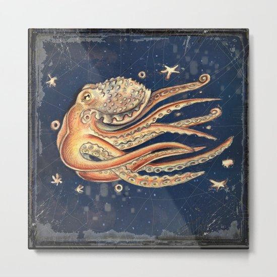 SPACEpolpo -   space octopus Metal Print