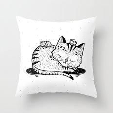 Scat or Die Throw Pillow