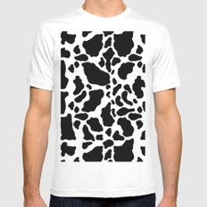 Animal Skin White Mens Fitted Tee MEDIUM