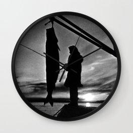 Retro USA Alaska float plane fishing 1970 Wall Clock