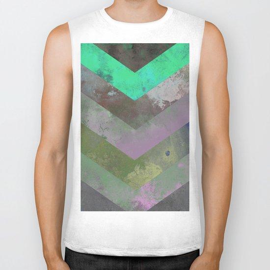 Look Down (Abstract, pastel, geometric artwork) Biker Tank