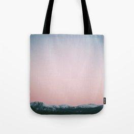 Dusk Mountains Tote Bag