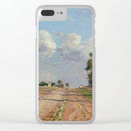 """Camille Pissarro """"Route de Versailles, Rocquencourt"""" Clear iPhone Case"""