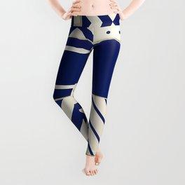 Tiles Old Porcelain Pattern Leggings