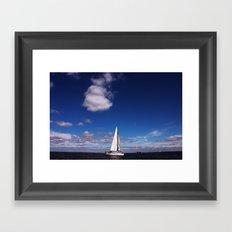 Blue Sky over the Bay Framed Art Print