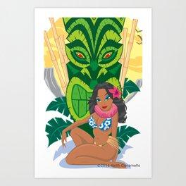Wahine Heaven Art Print
