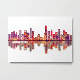 Monterrey Mexico Skyline Metal Print