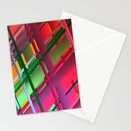 Striping Confusion Stationery Cards