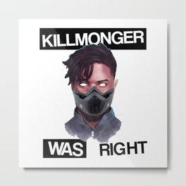killmonger was right mask Metal Print