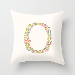 Alphabet O Throw Pillow